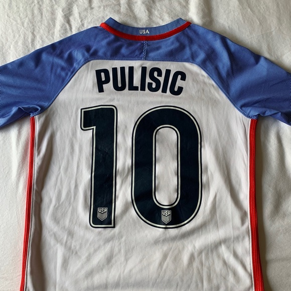 new products d00e3 42f2b Christian Pulisic Youth L 2016 Team USA Jersey